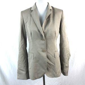 J. Crew Women's Tan 2 Button 100% Wool Lined